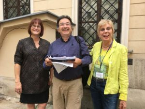 L-R: Casandra Lindell, Vincenzo Giorgino, Valerie Bentz