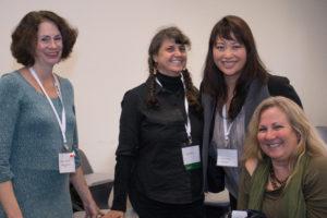 L-R: Student Susan Hermann, alumna Judy Zeidel, student Amy Chiang and alumna Teya Walker