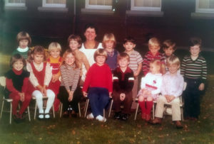 Mrs. Dolores Bunnell with her students, class of 1978