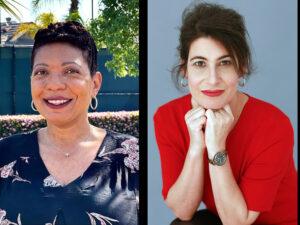 Myisha Driver, PhD'19 and Elizabeth Speck, PhD'11