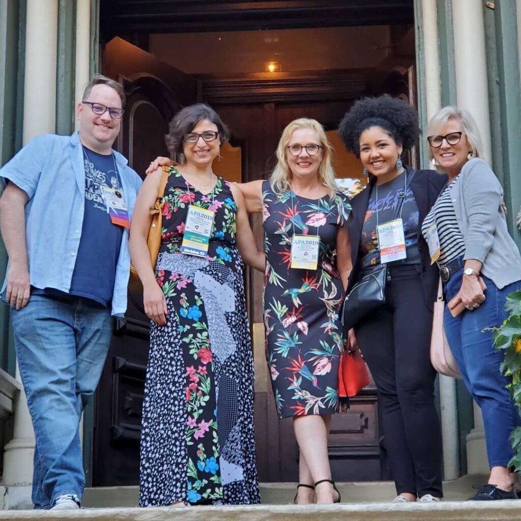 APA 2019 Media Psychology Awards Social Hour Adam Baldowski Tatyana El-Kour Jerri Lynn Hogg Angela Patterson Lisa Swain